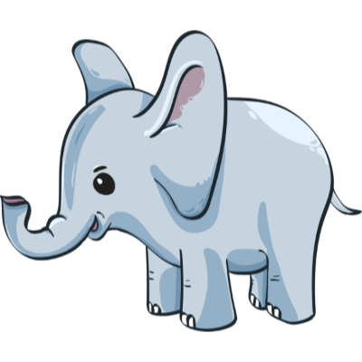 PNG image of an elephant with transparency